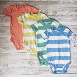 4 Carters Short Sleeve  Baby Boy Shirts.